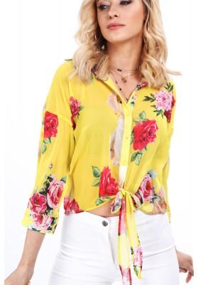 Voľný sveter v horčicovej farbe, s dlhým rukávom
