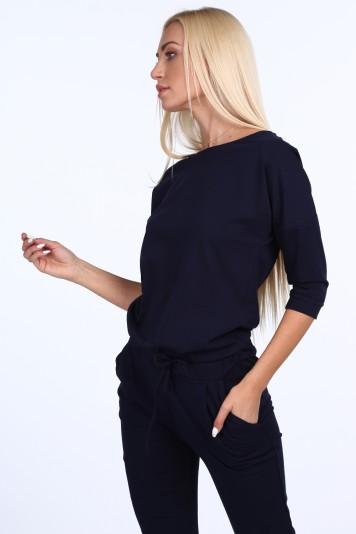 Bavlnené šaty s originálnym zdobením, čierne