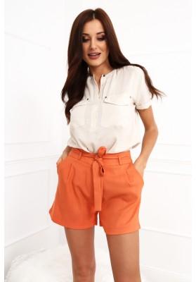 Asymetrické štýlové šaty s okrúhlym výstrihom, khaki
