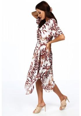 Elegantní šaty s našitým týlním překrytím, navy