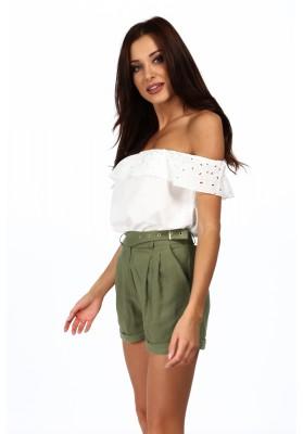 Minimalistické šaty s 3/4 rukávmi, khaki