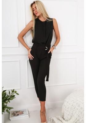 Čierne elegantné dámske šaty s výstrihom v tvare písmena V