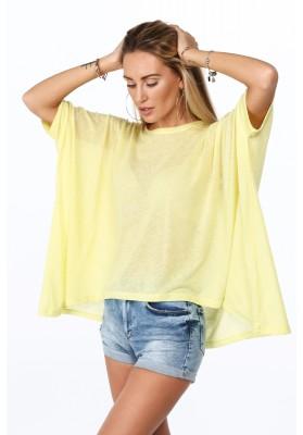 Żółta bluzka oversize na co dzień MP16362